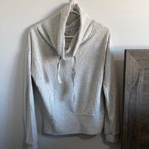 Poof New York grey high neck sweater